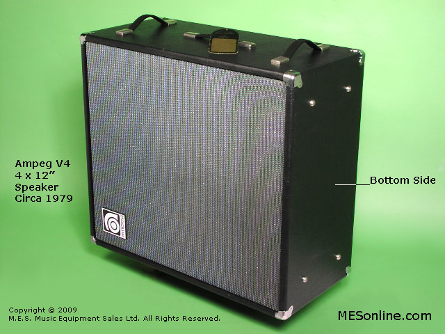 1979 Ampeg V4 amplifier head with 4 x 12 EXV4 speaker cabinet, image 7