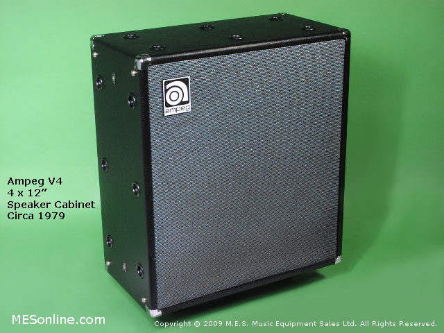 1979 Ampeg V4 amplifier head with 4 x 12 EXV4 speaker cabinet, image 5