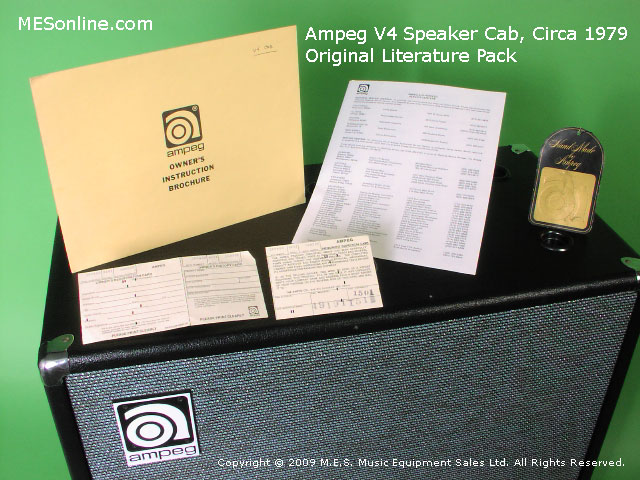 1979 Ampeg V4 amplifier head with 4 x 12 EXV4 speaker cabinet, image 8