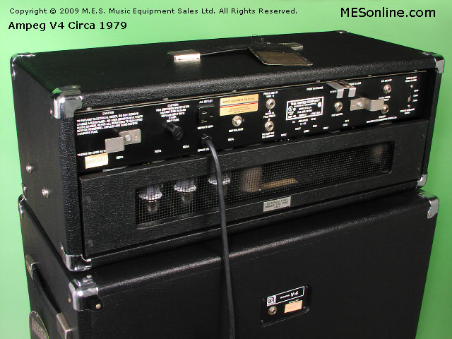 1979 Ampeg V4 amplifier head with 4 x 12 EXV4 speaker cabinet, image 27