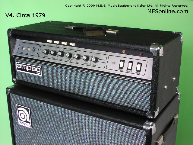 1979 Ampeg V4 amplifier head with 4 x 12 EXV4 speaker cabinet, image 28