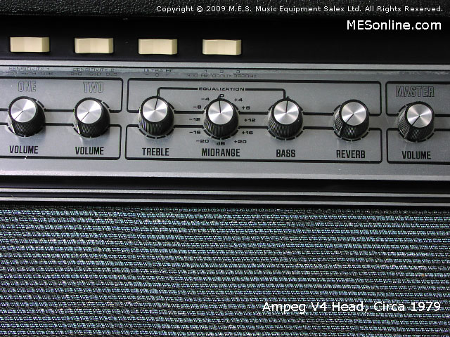1979 Ampeg V4 amplifier head with 4 x 12 EXV4 speaker cabinet, image 29
