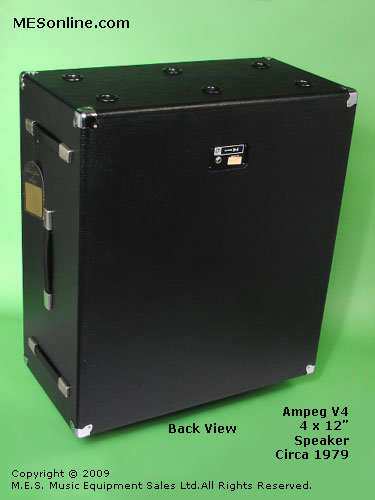 1979 Ampeg V4 amplifier head with 4 x 12 EXV4 speaker cabinet, image 4