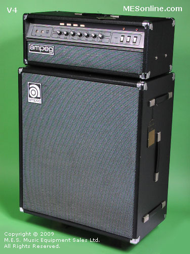 1979 Ampeg V4 amplifier head with 4 x 12 EXV4 speaker cabinet, image 3